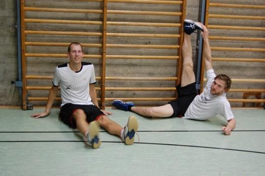 """Mirko und Thomas beim """"Aftershow-Programm"""""""